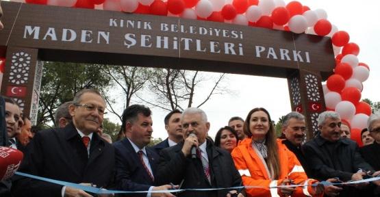 Başbakan Yıldırım park açılışı yaptı