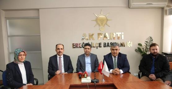 Başkan Altay Ereğli'de referandum için destek istedi