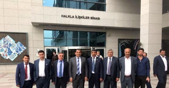 Başkan Atilla, heyeti ile birlikte Ankara'da önemli temaslarda bulundu