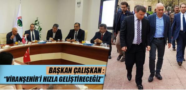 Başkan Çalışkan, Kardeş Belediye Viranşehir'i Hızla Geliştireceğiz