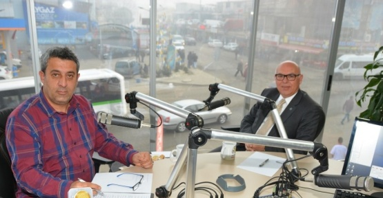 Başkan Eşkinat Radyo Can'da canlı yayına katıldı
