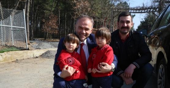 Başkan Poyraz, Doğa Park'taki yenileme çalışmalarını inceledi