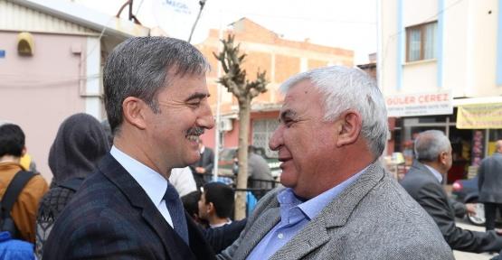 Başkan Şirin pilav hayrına katıldı, manisa haberleri