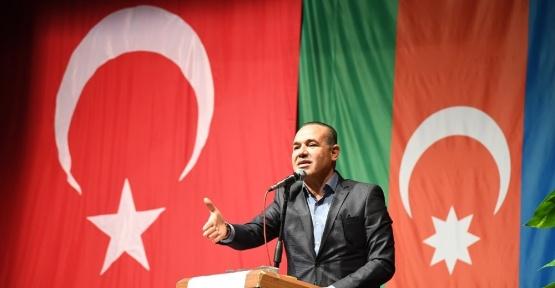"""Başkan Sözlü: """"Türk Milleti'ne karşı düşmanca tavrınızdan vazgeçin"""""""