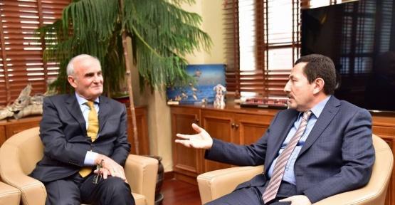 Başkan Yılmaz, Vali Balkanoğlu'nu ağırladı