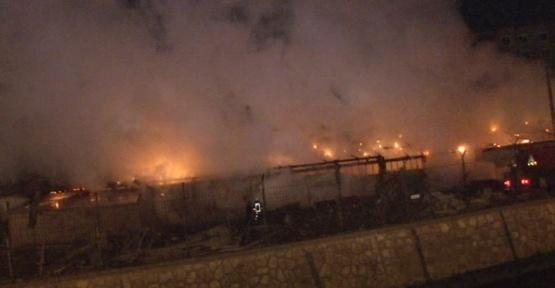 Başkent'te inşaat şantiyesinde korkutan yangın
