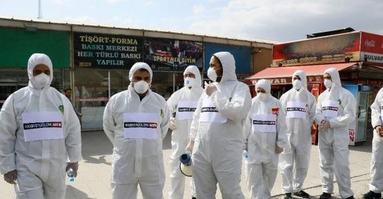 Başkent'te yıkımı başlayan havagazı fabrikası için eylem