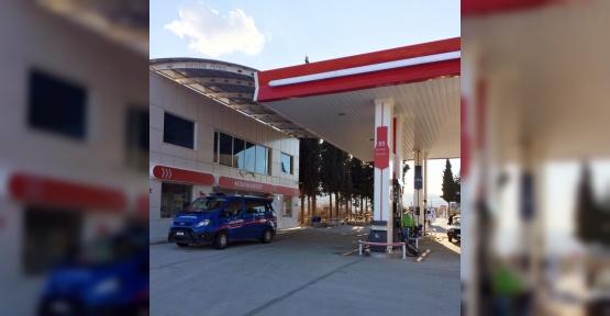Besni'de petrol istasyonundan para çalan hırsız yakalandı