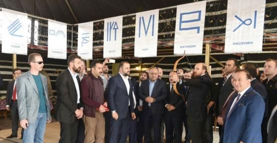 Bilal Erdoğan, attığı oklarla hedefi 12'den vurdu