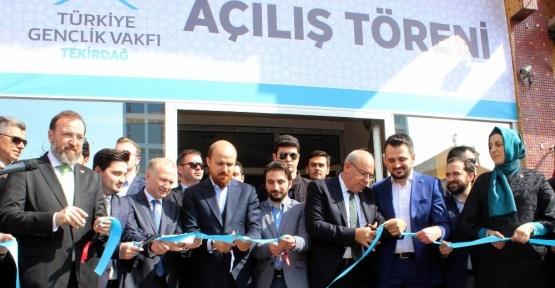 Bilal Erdoğan TÜGVA Tekirdağ Temsilciliğinin açılışını yaptı