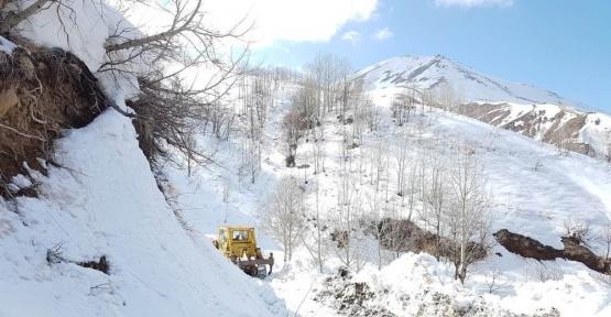 Bingöl'de Çığ düşmesine karşı karla mücadele