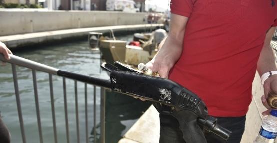 Bodrum'da deniz dibinden pompalı tüfek çıktı