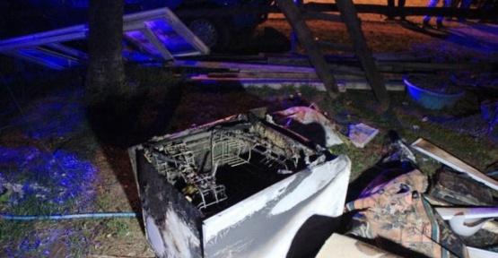 Bulaşık makinesi patladı: 1 yaralı