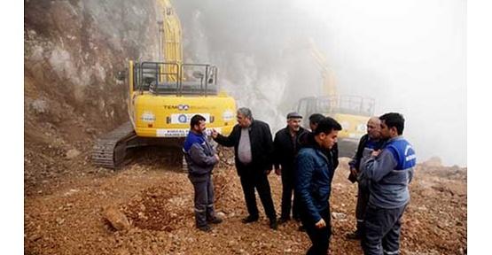 Büyükşehir Belediyesi dağları kırarak Bezirgan'ı Akdeniz ile buluşturuyor