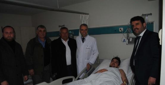 Çakır, hastane çalışanlarını ziyaret etti