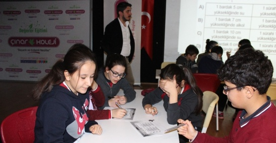 Çınar Okullarında bilgi yarışması düzenlendi