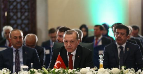 """Cumhurbaşkanı Erdoğan: """"Bölge içi ticareti arttıracak adımları atmamız şarttır"""""""