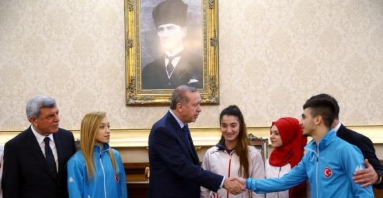 Cumhurbaşkanı Erdoğan, Darıcalı Şamdan'ı tebrik etti