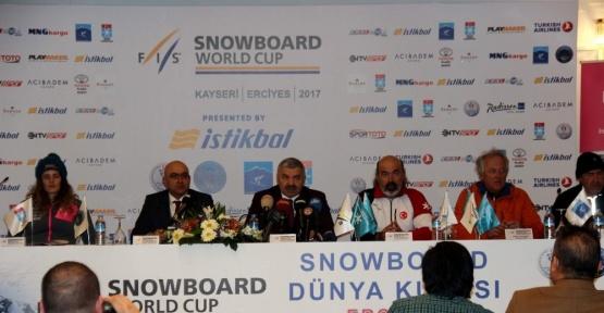 Dünya Snowboard Kupası Erciyes'de başlıyor
