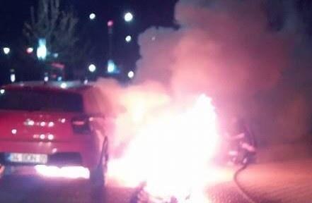Elazığ'da seyir halindeki otomobil yandı