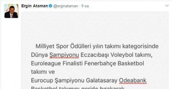 Ergin Ataman'dan ödül eleştirisi