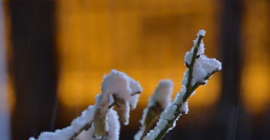 Erzincan'da yağan kar şehri beyaza bürüdü