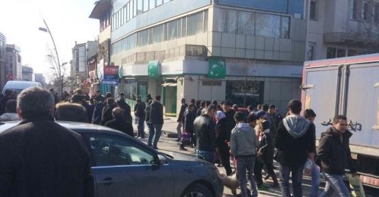 Erzurum'da güpegündüz banka soygunu girişimi