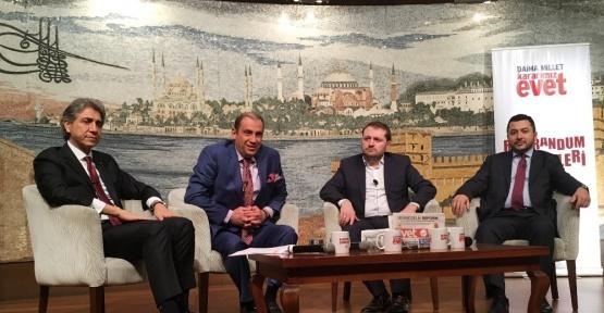 Fatih'te canlı yayında referandum sohbeti
