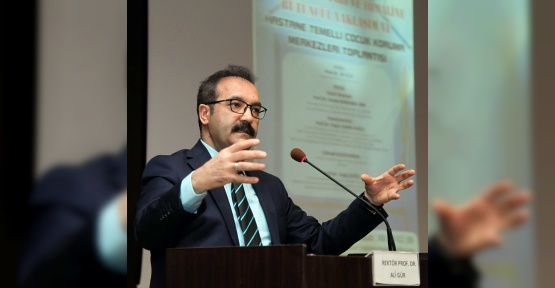 "GAÜN Rektörü Prof. Dr. Gür: ""Bir gün bu mağdurlardan birisi bizim çocuğumuz olabilir"""