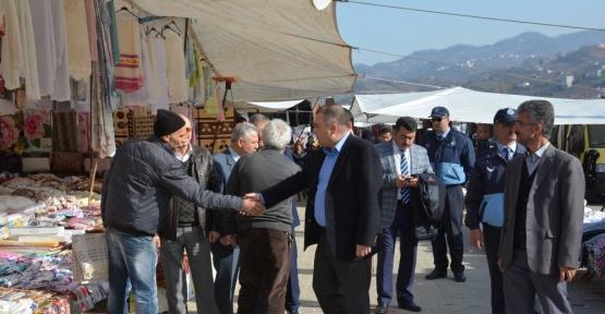 Görele Belediye Başkanı Erener, pazar yerini gezdi