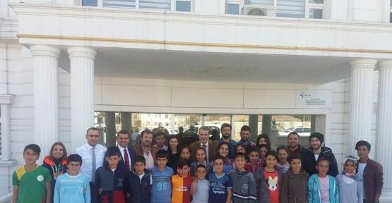 Hazrolu sporcu öğrenciler Bilfen'de ağırlandı