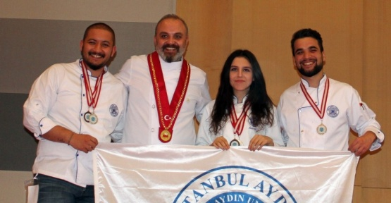 İAÜ Gastronomi öğrencileri Universiade 2017'de 5 ödül aldı