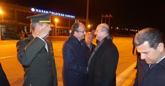 İçişleri Bakanı Süleyman Soylu havalimanından yolcu edildi