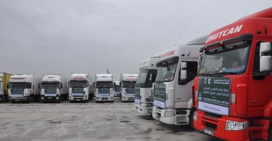 İHH'dan Suriye'ye 66 tırlık yardım konvoyu