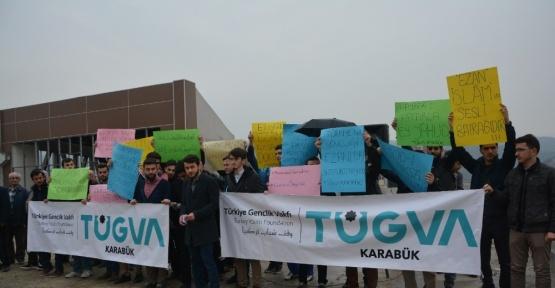 """İsrail'in """"Ezan Yasağı"""" Kararı, Karabük'te protesto edildi"""