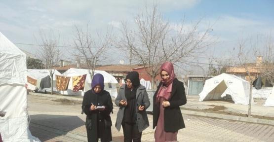 Kadın ve çocuk hakları derneği deprem bölgesinde