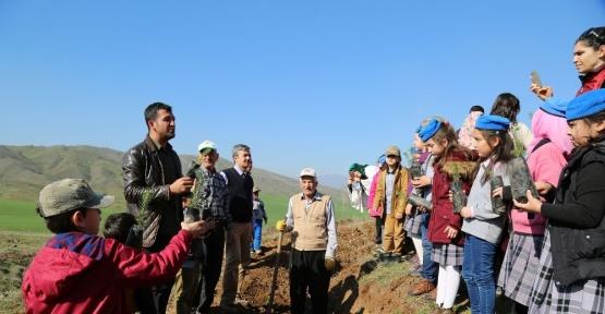 Kahramanmaraş'ta 250 bin fidan toprakla buluşacak