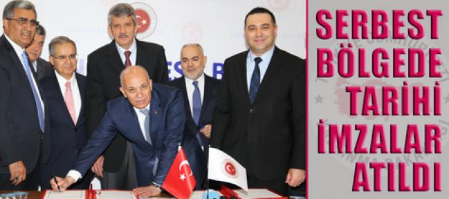 Karaman'da Serbest Bölge Protokolü imzaları atıldı