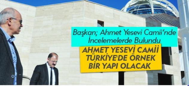 Karaman'da yapılan Ahmet Yesevi Camii örnek yapı olacak