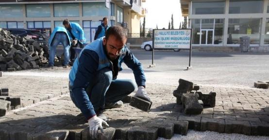 Karşıyaka Mahallesinde kilitli taş çalışması tamamlandı