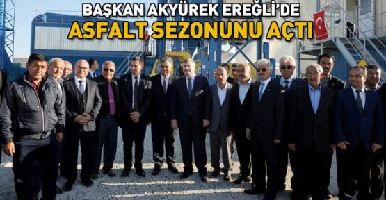 Konya Ereğli'de asfalt sezonu başladı