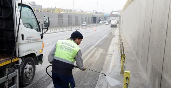Konya Şehir Merkezi yıkanıyor