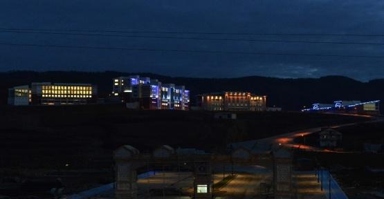 Kutlubey Kampüsü ışıklandırması görsel şölen sunuyor