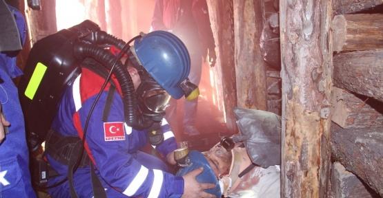 Maden ocağı sahasında 660 kişi ile dev tatbikat