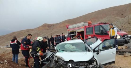 Malatya-Sivas karayolunda kaza: 1 ölü, 4 yaralı