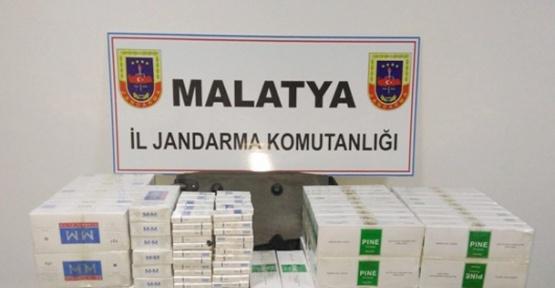 Malatya'da 4 bin 440 paket kaçak sigara ele geçirildi