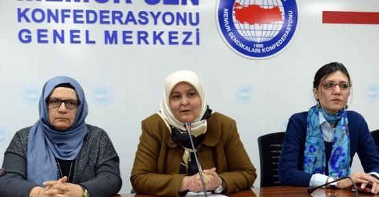 """Memur-Sen Kadınlar Komisyonu Başkanı Öçal: """"Referandumda 'Evet' diyoruz"""""""