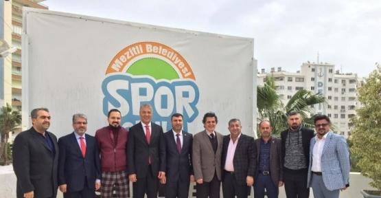 Mersin İdmanyurdu yönetiminden, Başkan Tarhan'a teşekkür ziyareti