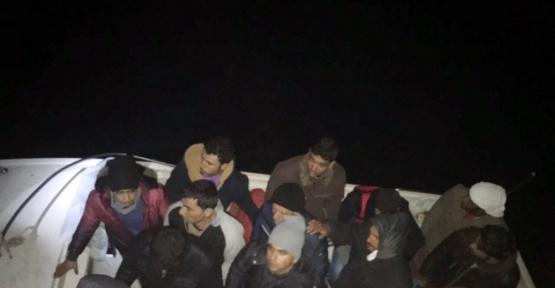 Mersin'de Akdeniz'e açılan 18 kaçak göçmen yakalandı