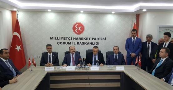 MHP Çorum'da referandum startını verdi